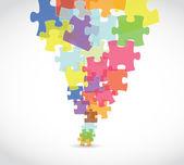 puzzle darab art illusztráció design
