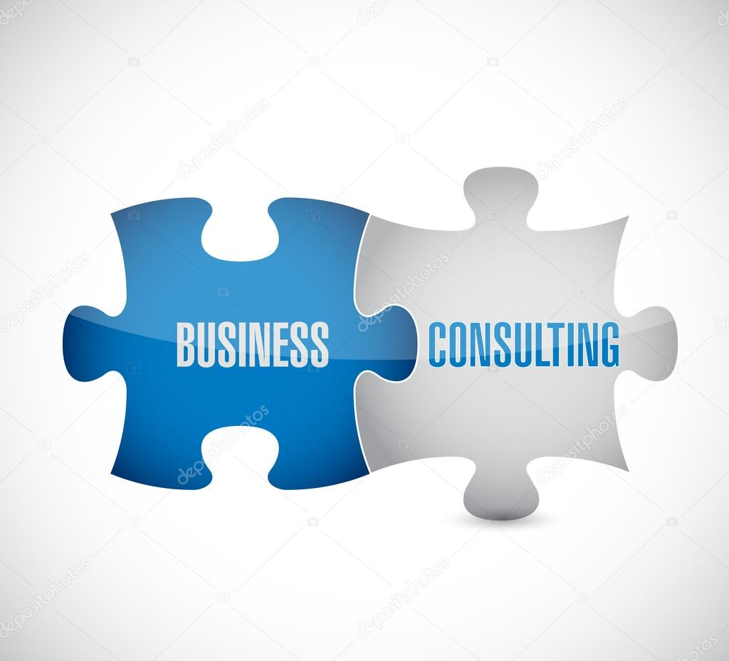 business consulting puzzle pieces illustration