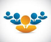 avatar business team illustration design