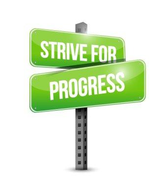 strive for progress sign illustration design