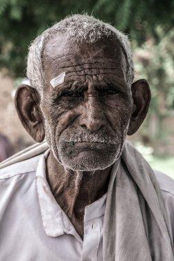 Portrait old Indian man
