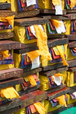 Old Tibetan Sacred text stored in precious box