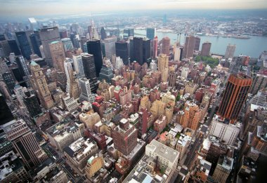 Aerial view of Manhattan in New-York