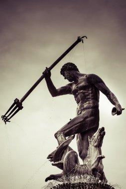 Statue of Poseidonon in Gdansk, Poland