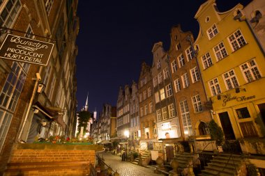 Old town of Gdansk at night, Poland