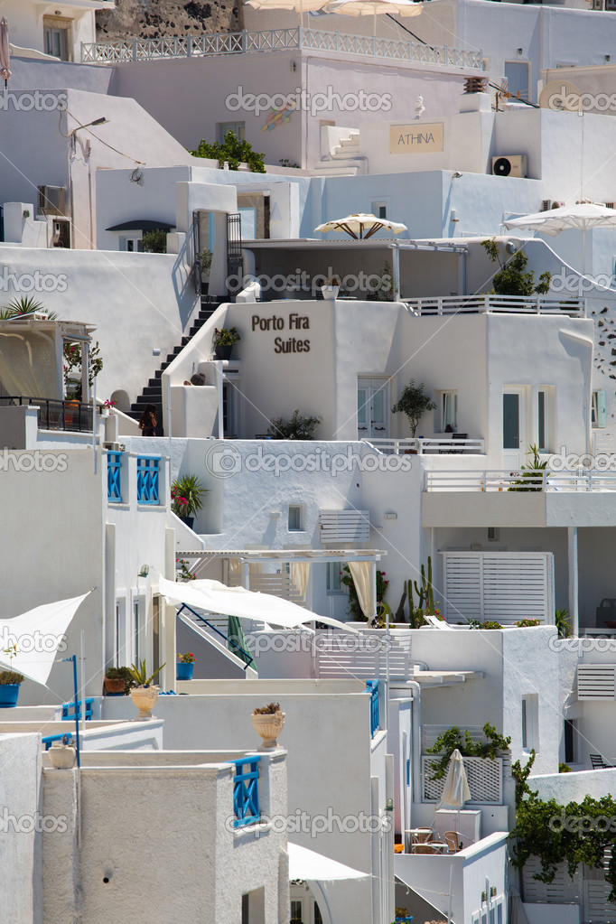 Traditional Greek Houses close up from traditional greek houses in santorini — stock photo