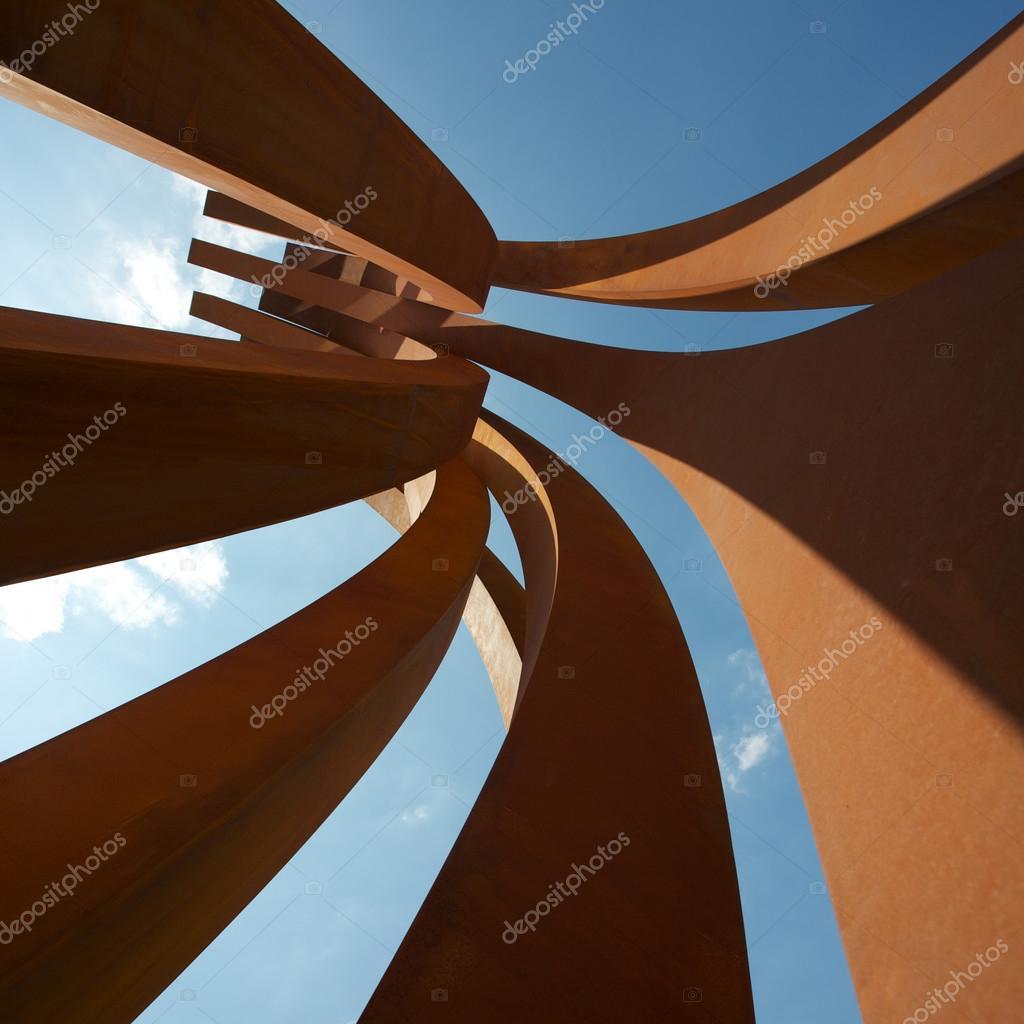 The steel Venet sculptures at Versailles