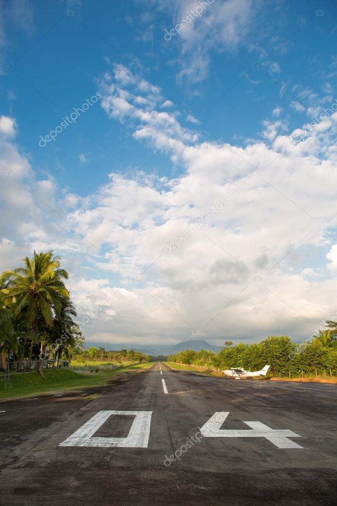 Empty airport in Quepos, Costa Rica