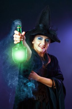 Witch making potion