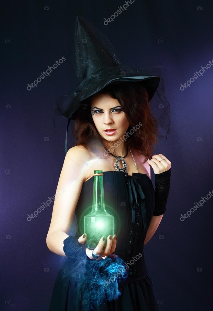 Beautiful young witch