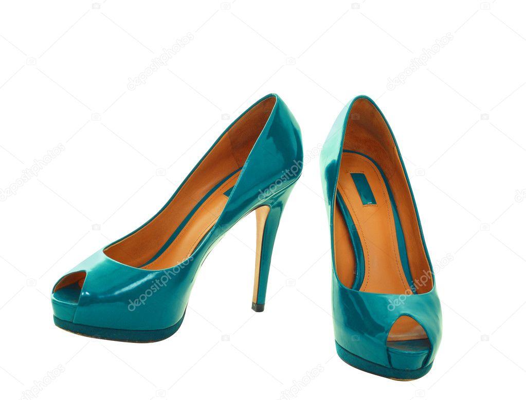 Fotos Zapatos Verde — Azul Stock Lenanet18269043 De Lona © nw80OPkX