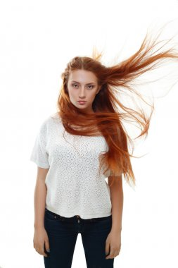 beautiful red-haired teenager