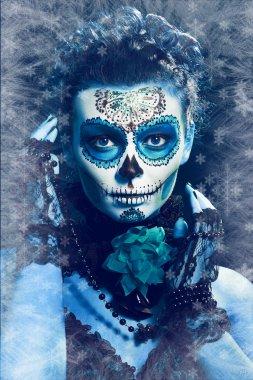 winter make up sugar skull