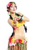 Fotografie Mädchen mit hawaiian Zubehör