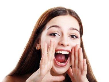 teen girl loud screaming