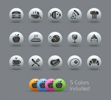 Food Icons - Set 1 of 2 // Pearly Series