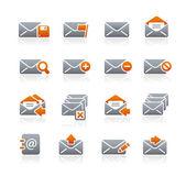 e-mailové ikony - grafit série