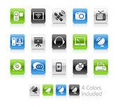 komunikační ikony – čistá série
