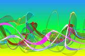 αφηρημένη κορδέλα κύματα