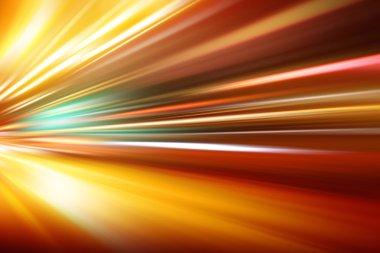 speed motion on night road