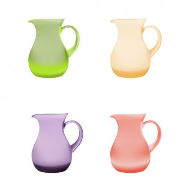 Illustration purple glass pitcher of juice