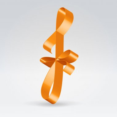 Silk ribbon letter abc