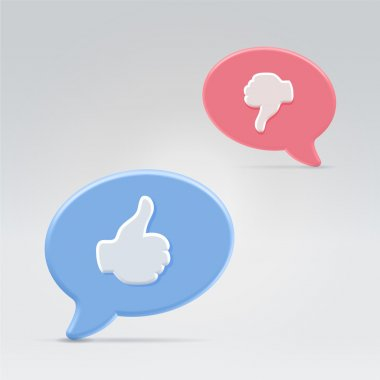 Positive and negative opinion balloons