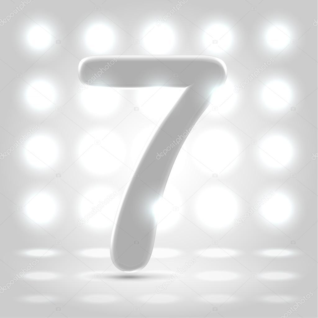 7 over lighted background