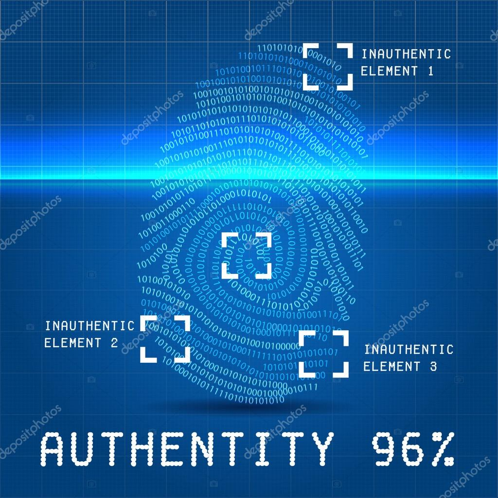 Digital authentity finger scan illustration fotos de stock digital authentity finger scan illustration over blueprint paper with inauthentic element foto de illuland malvernweather Choice Image