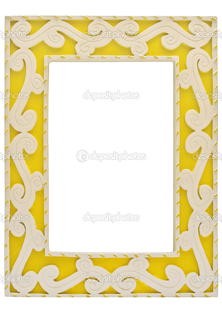 Gelbe Bilderrahmen mit Beschneidungspfad — Stockfoto © winterling ...
