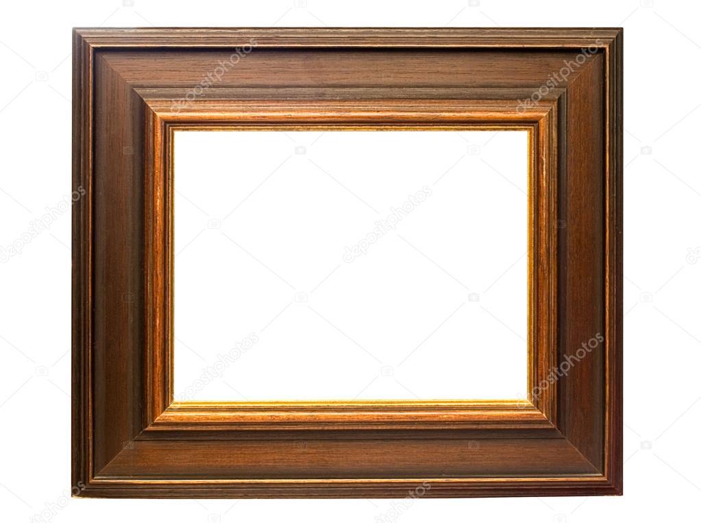 marco de madera oscura con trazado de recorte — Foto de stock ...