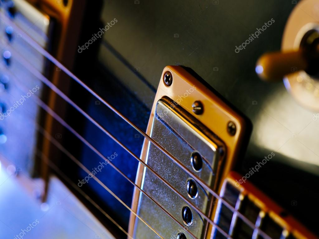 Electric Guitar Strings And Pickups Stock Photo Sumners 30115859 Pickup On An Bass Or Acoustic