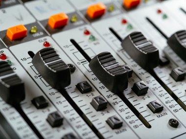 Recording studio faders
