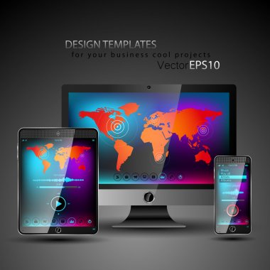 Modern devices design templates