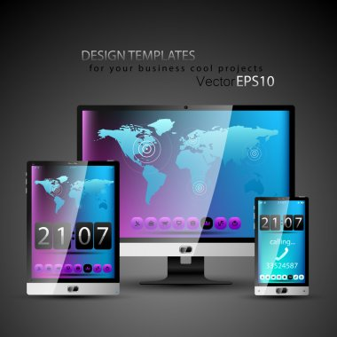 Modern devices design templates
