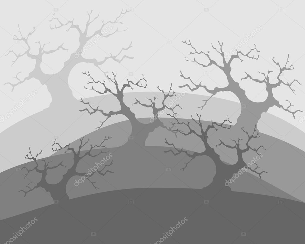 Dead trees, poor environment, the apocalypse