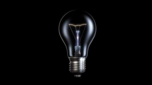 Lampada ad incandescenza che esplode senza riempire di luce