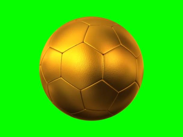 rotující zlatý fotbalový míč