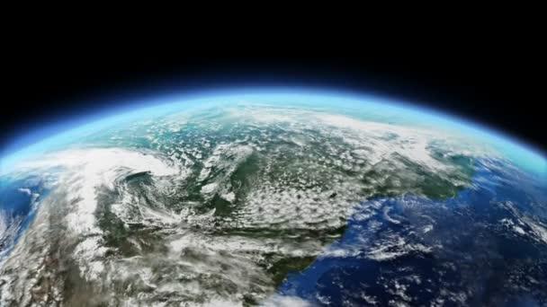 rotující země pozadí, smyčka schopný 3d animace