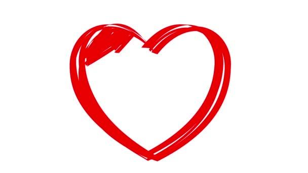 kreslení srdce, animace své pocity