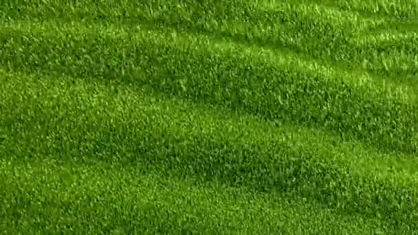 Slowly waving grassy background, seamless looped 3d animation
