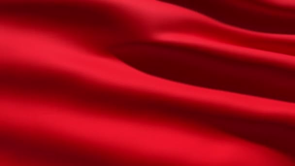 Slowly waving red fabric background, seamless looped 3d animation
