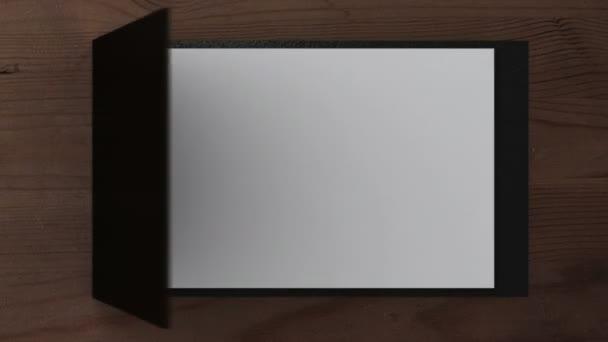 otevřít poznámkový blok s obracet stránky, 3d animace