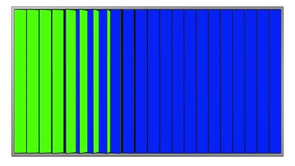 hirdetőtáblák, kék és zöld képernyők, (függőleges változat) varrat nélküli hurkolás 3d animáció