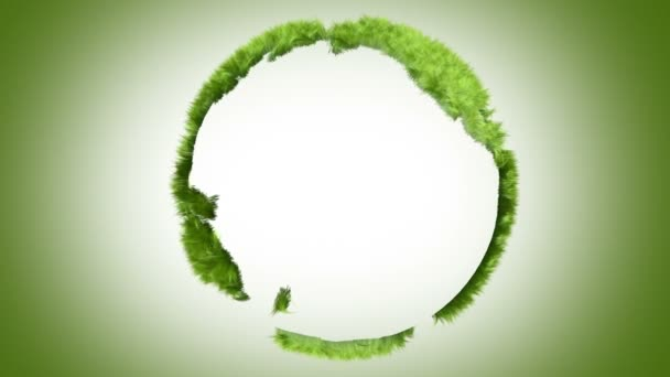 Green world made of grass, loop-able 3d animation