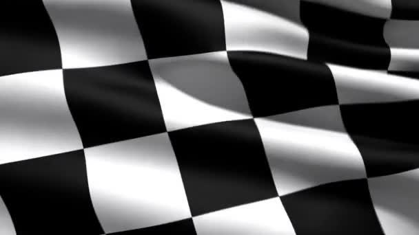 Rennflagge, 3D-Animation, perfekte, nahtlose Schleife