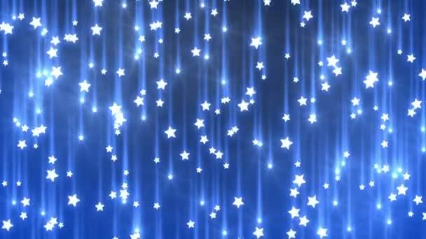 padající hvězdy, bezešvé pozadí smyčkou