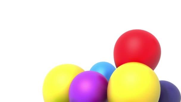 balóny, 3d animace, alfa součástí