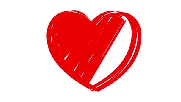 kreslení srdce s love you, animace s alfa matný