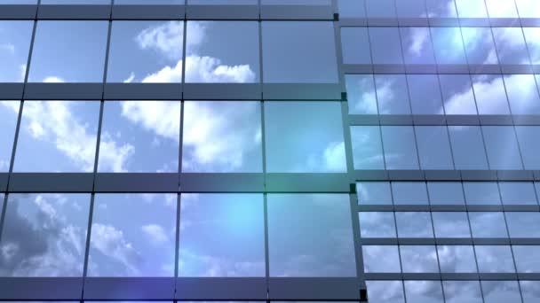 mrakodrapy a odraženého mraky